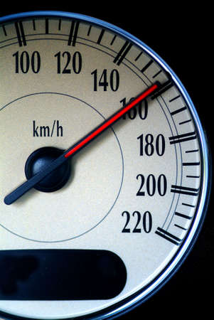 a speed indicator to calculate speed of an car shows high speed photo