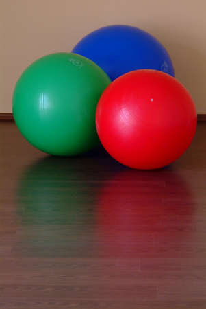 a gym ball in different three colours