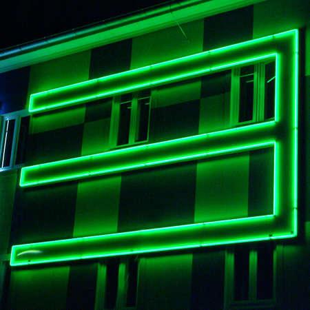 a green three light at the  facade Stock Photo - 753629