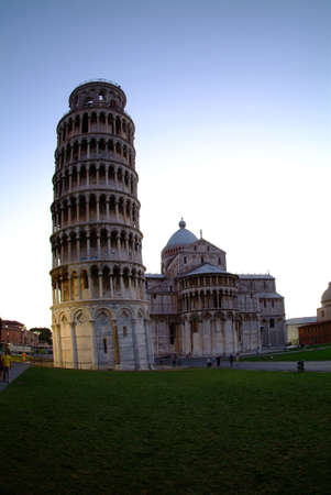 the tower of pisa by blue sky Stock Photo - 779523