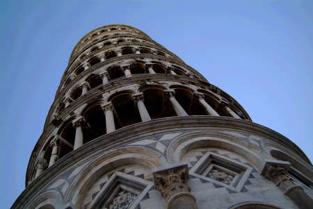 constrution: the tower of pisa by blue sky