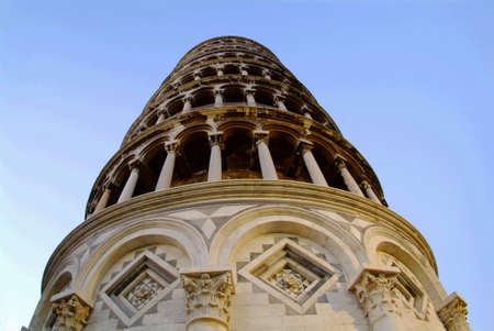 the tower of pisa by blue sky Stock Photo - 779521