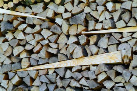 on top of one another bedded stack of wood