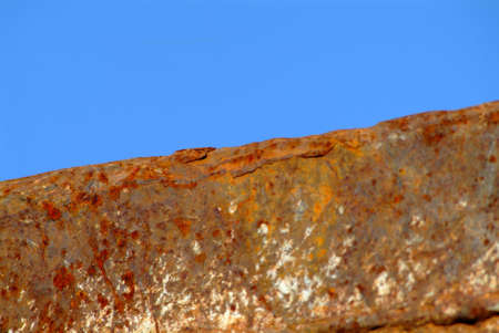 dangerouse: a brown and old rusty wall frontside