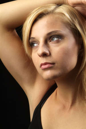 unbend: a young beautiful woman with blond hair Stock Photo