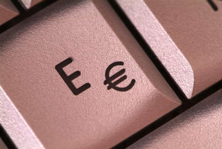 € and E button enlarged of notebook photo