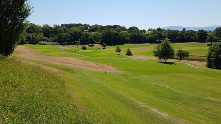 View of a golf course in Aquitaine, France