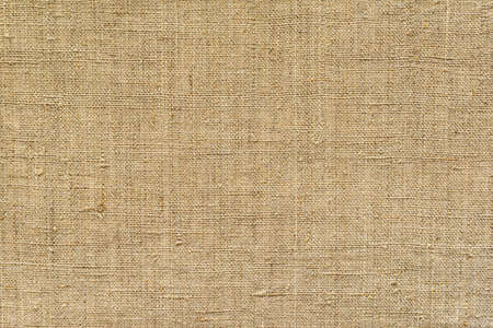Brown, fabric background from old burlap, horizontal Imagens