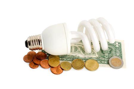 household money: Compact fluorescent lamp energy saving