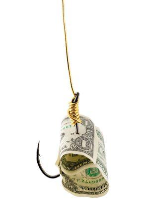 dollar bait in hook