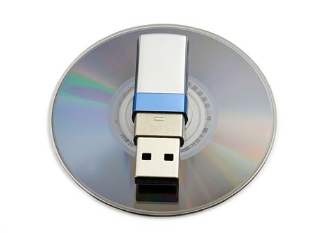 md: Usb flash memory on MD Stock Photo