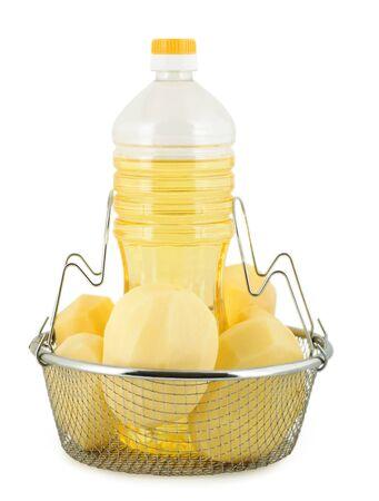 fries potatos oil  photo