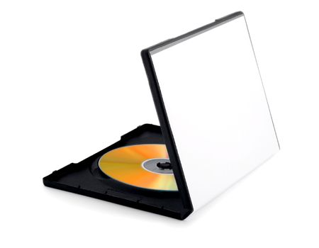 compact disk: disk on box compact disk  Stock Photo