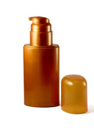 plastic golden bottle   photo