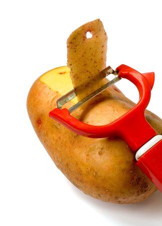 Knife for vegetable in potato  photo