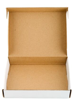paperboard: Pizza box paperboard blank empty Stock Photo