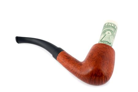 tobacco-pipe spend dollars  photo