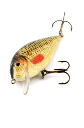 golden fish bait isolated on white background Stock Photo - 5250949