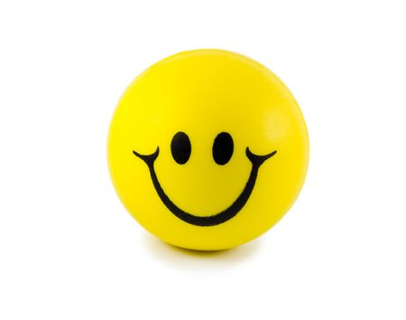 Smiley face isolated on white background Stock Photo