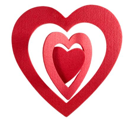 heart red isolated on white background Stock Photo