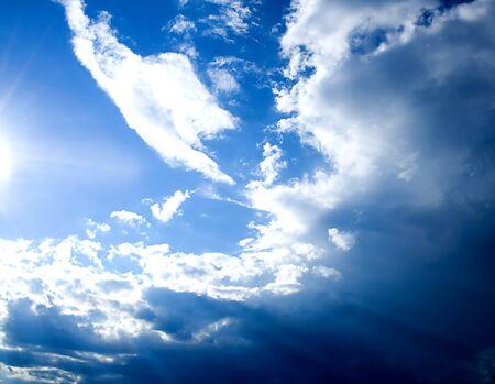 sunlight in a blue sky Stok Fotoğraf