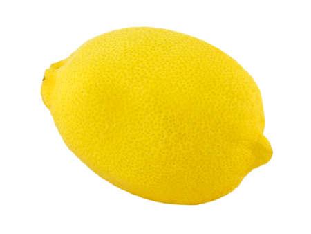 fresh lemon isolated on white Stock Photo - 7720564