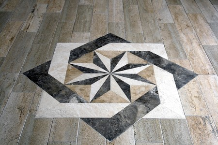 Marble floor with star shape tile Stock Photo - 7894397