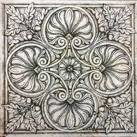 old ornamental vintage tile Stock Photo - 7894395