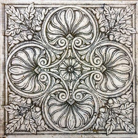 old ornamental vintage tile  Stock Photo - 7894395