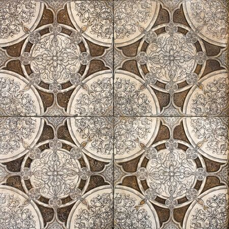 tile floor retro pattern  Stock Photo