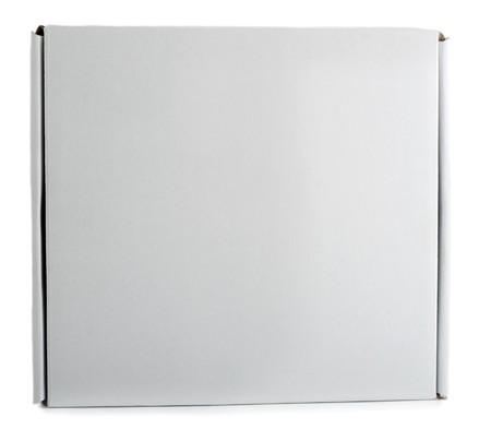 blank closed cardboard pizza box Stock Photo - 8034315