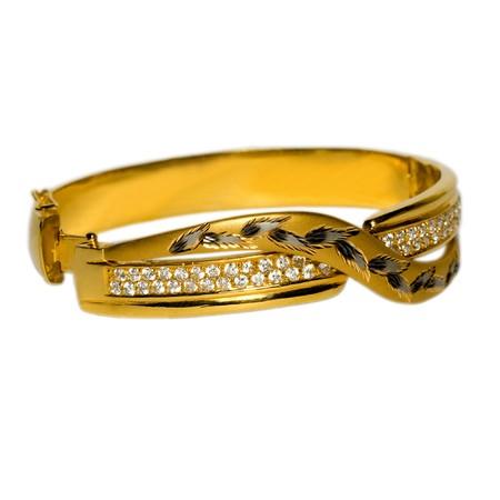 bijoux diamant: bracelet isol� sur fond blanc  Banque d'images