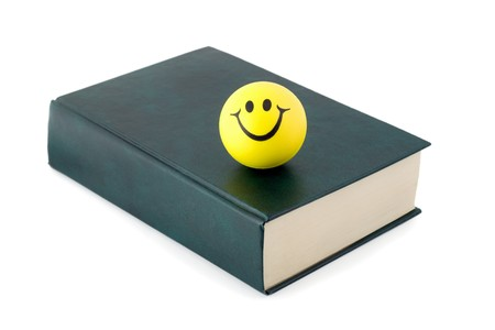 Green book with Smiley isolated  photo