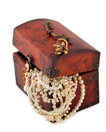 Wooden treasure chest  photo