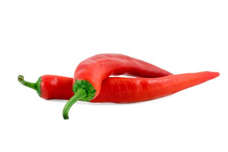 red pepper close up isolated on white background Stock Photo