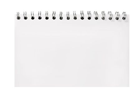 blank notebook sheet spiral note pad  Stock Photo
