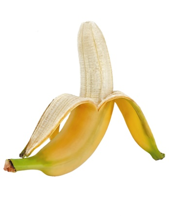 bannana: banana isolated on white background Stock Photo