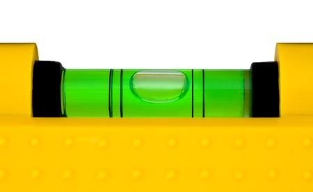 Bau-Ebene isoliert auf weißem Hintergrund Standard-Bild