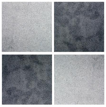 piso piedra: azulejos blancos y negro