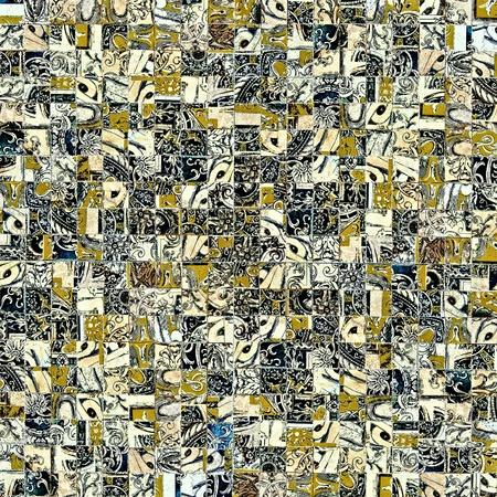 Mosaic Grunge achtergrond met oude tegels  Stockfoto