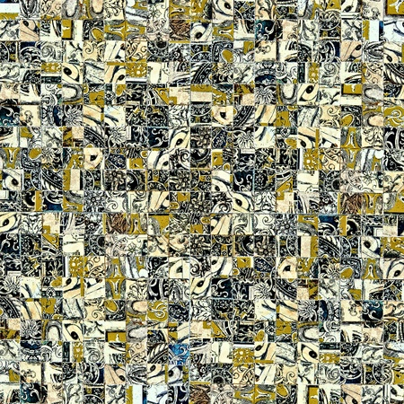 Mosaic Grunge Background with Old tiles Stock Photo - 9093699