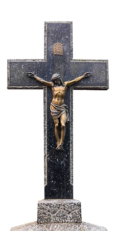 Jesus Christ on the Cross isolated on white background Stock Photo - 12414009