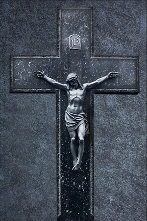 Jesus Christ on the Cross grunge background photo