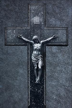 Jesus Christ on the Cross grunge background Stock Photo - 12415695