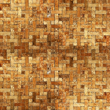 frame van mozaïek tegel grunge achtergrond Stockfoto