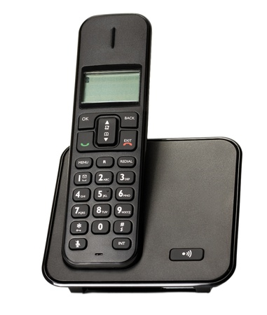 black telephone isolated Stock Photo - 12820485