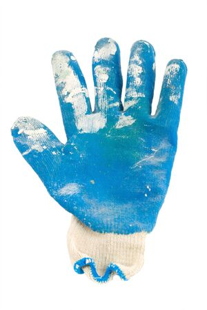 dirty protection glove isolated Stock Photo - 12820745