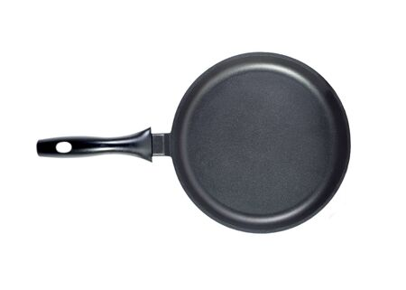 Frying pan top isolated photo