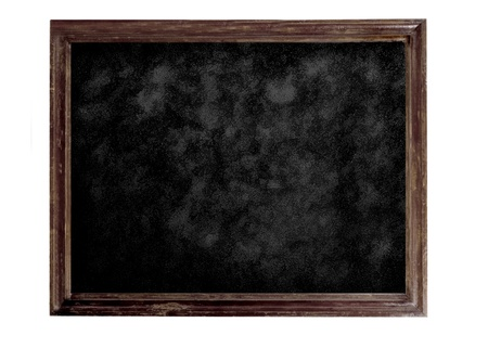 Old brown blank dirty blackboard photo