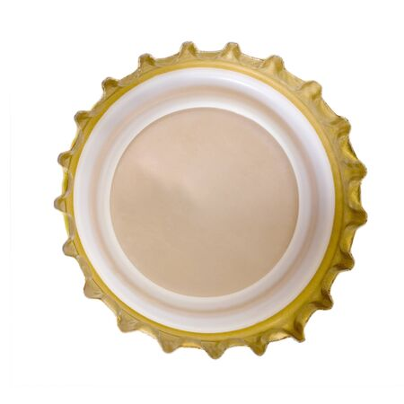 beer bottle cap back isolated photo